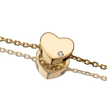 Bratara din aur cu charm inima si diamant