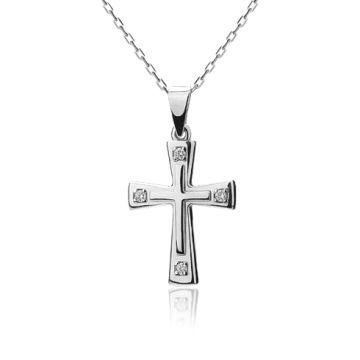White diamonds cross