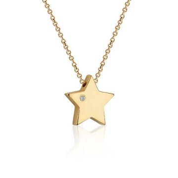 Colier din aur cu steluta si diamant