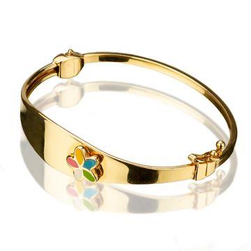 Bratara din aur galben cu email color