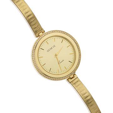 Ceas din aur galben cu cadran rotund