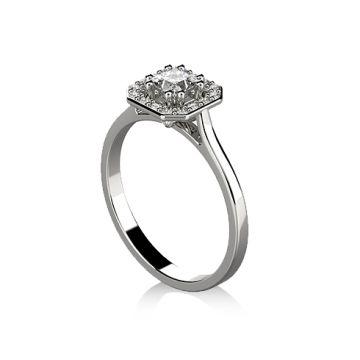 Inel de logodna cu diamant princess DR406