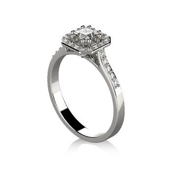Inel de logodna cu diamant princess DR406A