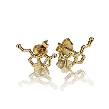 Cercei serotonina din aur galben